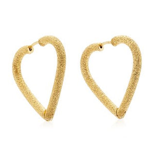 FLORENTINE FINISH HEART HOOPS