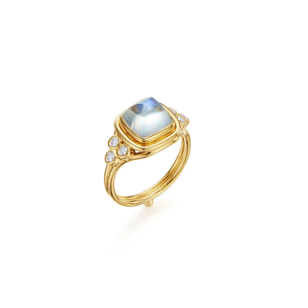 ROYAL BLUE MOONSTONE CLASSIC SUGARLOAF RING