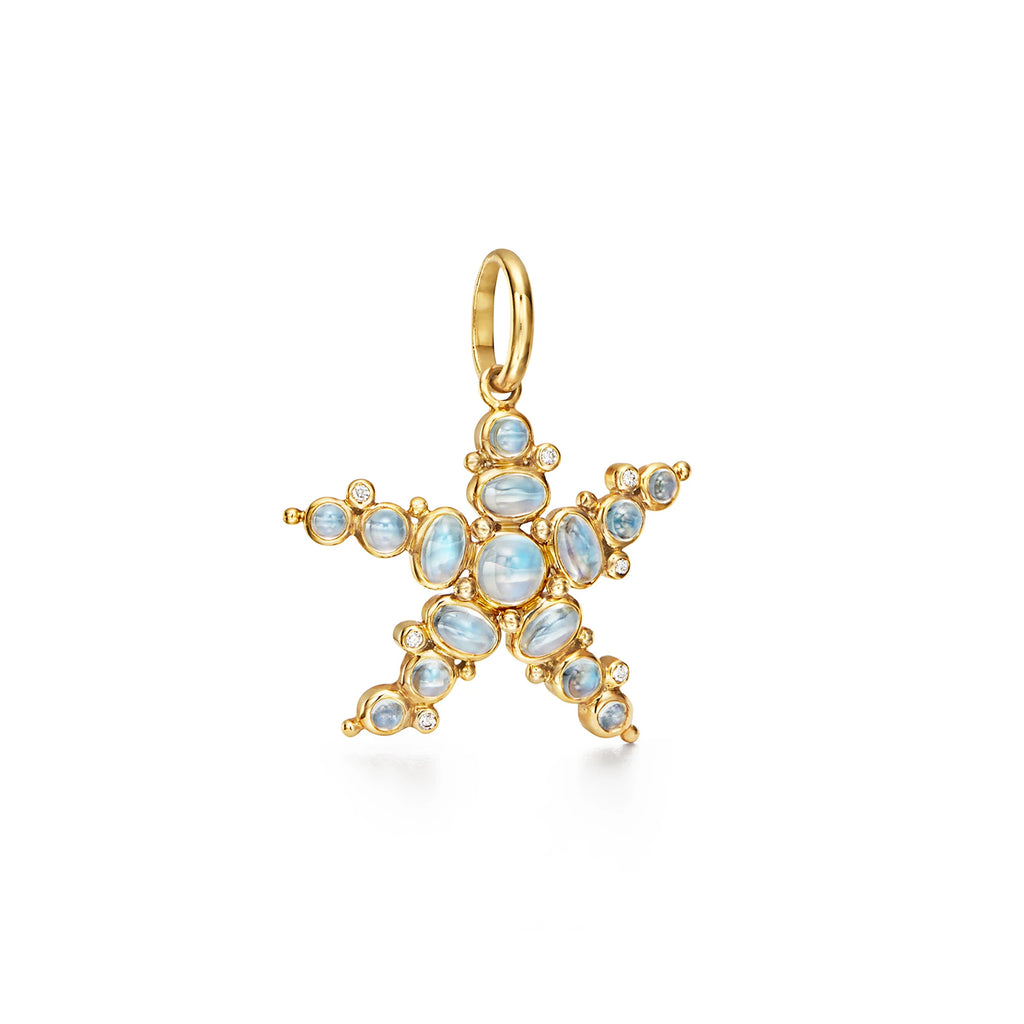 BLUE MOONSTONE SEA STAR PENDANT