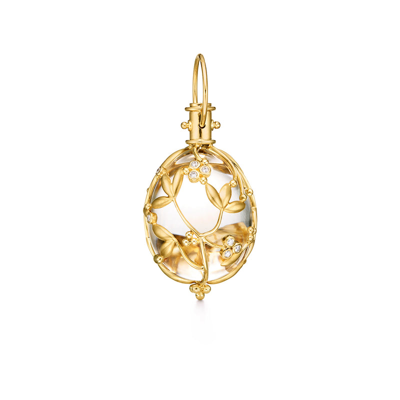 VINE AMULET WITH DIAMONDS