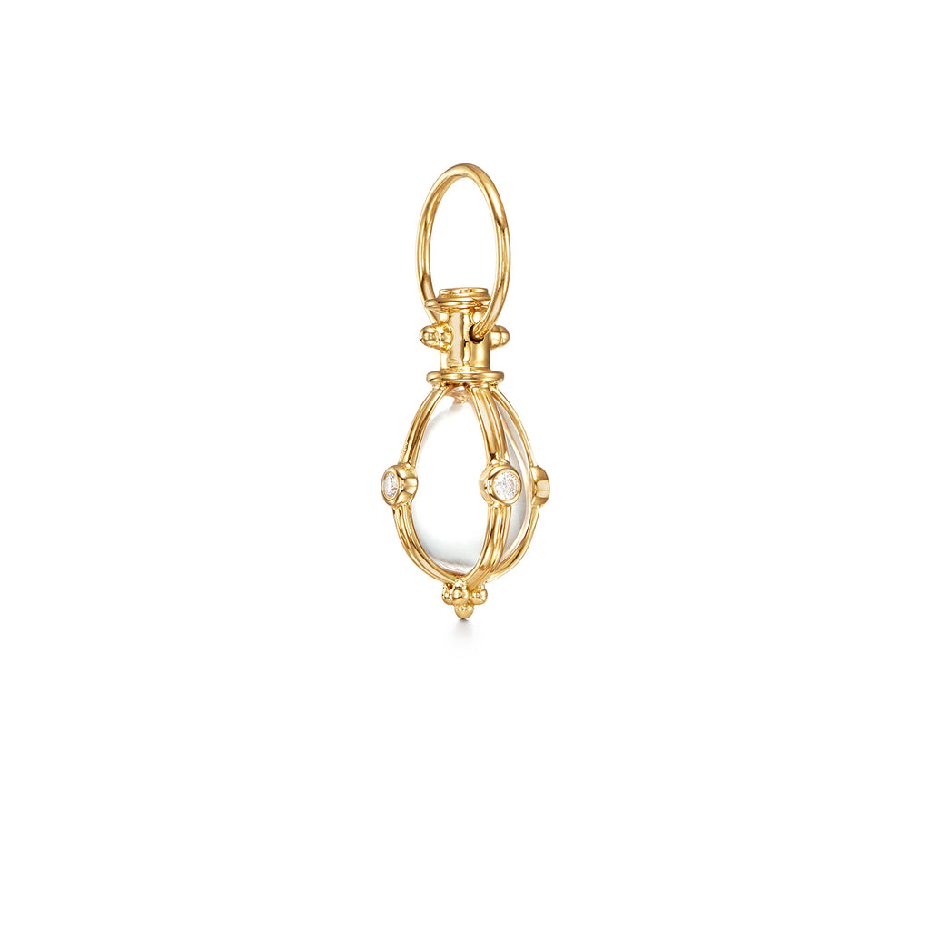 CLASSIC AMULET WITH DIAMONDS - SMALL