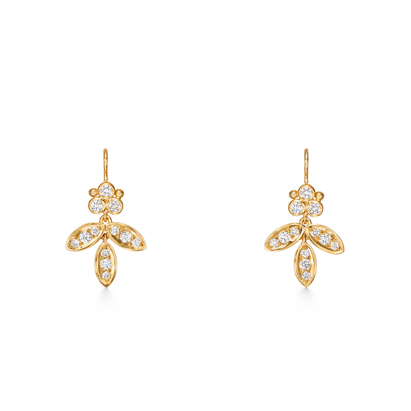 DIAMOND FOGLIA EARRINGS