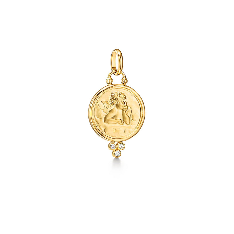ANGEL PENDANT WITH DIAMONDS - 14MM