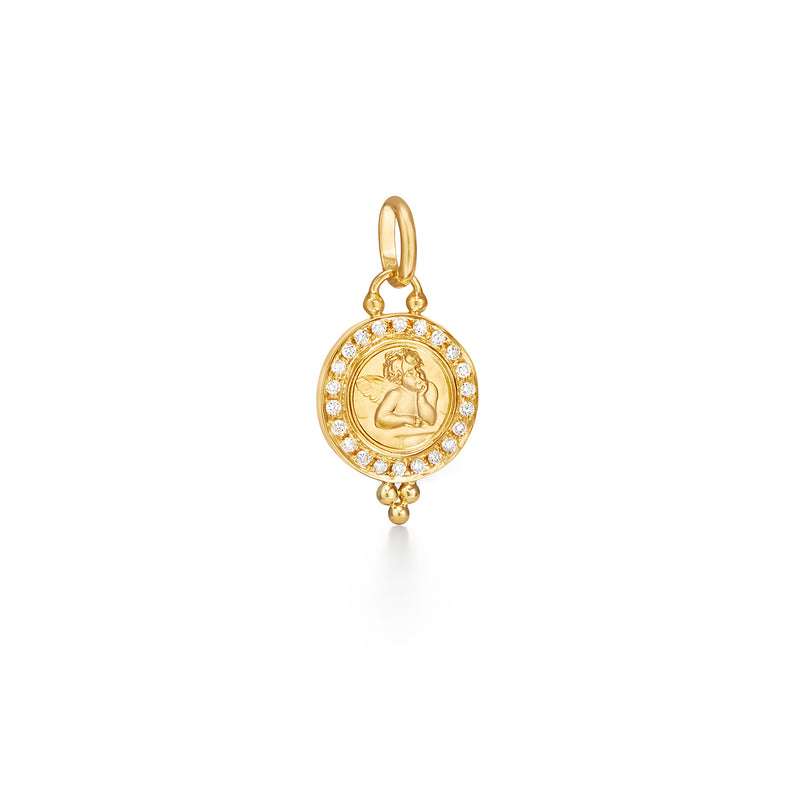 ANGEL PENDANT WITH PAVÉ DIAMONDS - 10MM