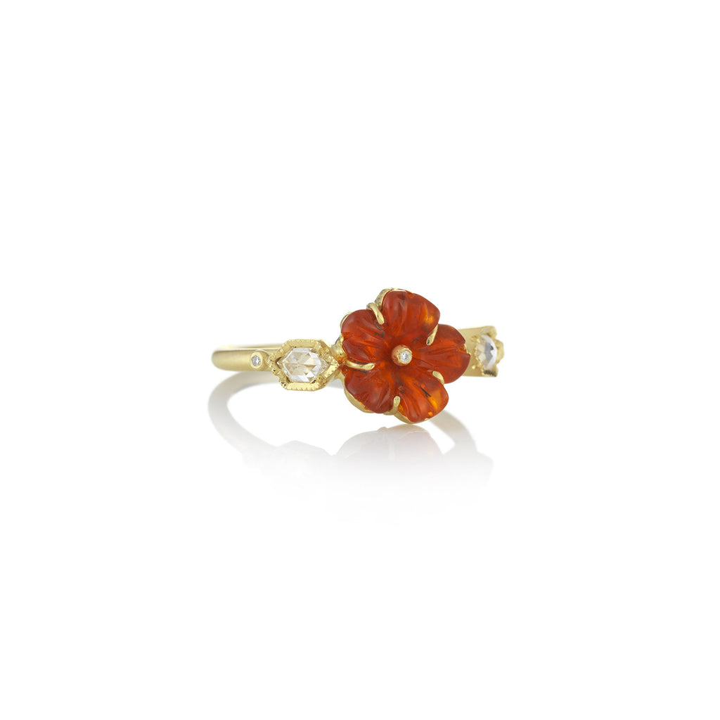 RIVERA FLOWER FIRE OPAL RING