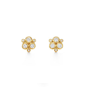 18K CLASSIC DIAMOND TRIO EARRING