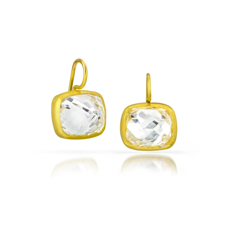 WHITE TOPAZ COCKTAIL EARRING