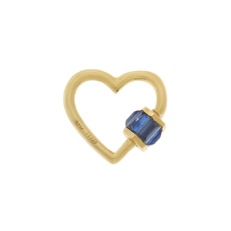 SAPPHIRE TOTAL BAGUETTE BABY HEART LOCK