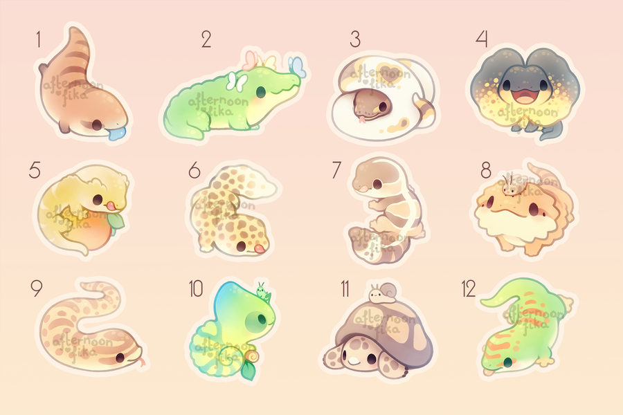 Reptile Sparkly Stickers