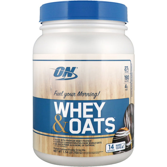 EXP. 06 .2019  Optimum Nutrition, Whey & Oats  Vanilla Almond Pastry(700g)