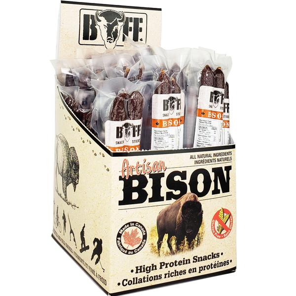 BUFF BEEF BISON SNACK STICKS. 1 Count