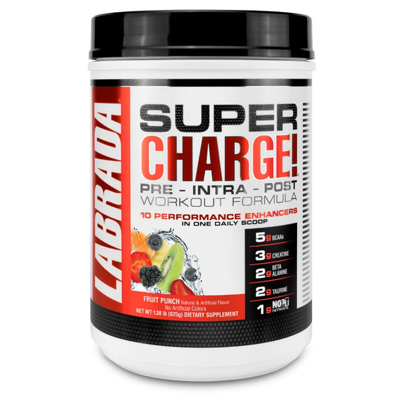 Labrada Super Charge! (25 serving) Pre - Intra - Post Workout Formula