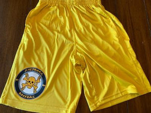 2 Pocket Shorts - Gold - Circle Logo