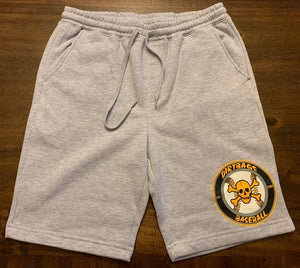 Grey-Heather Fleece Shorts