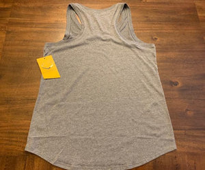 Ladies Racerback Tank - Grey