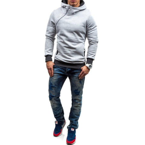 Solid Color Tracksuit Mens Hoodie