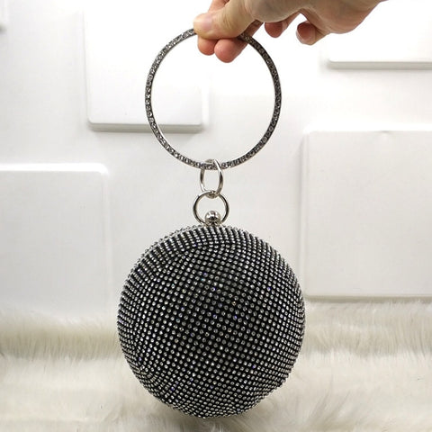 Eve's Shining Crystal Ball Crossbody Bag