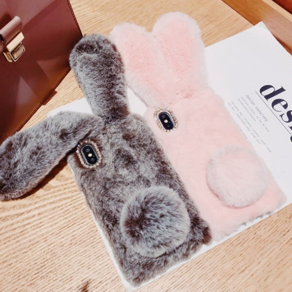 Hairy Cute Rabbit Mobile Case