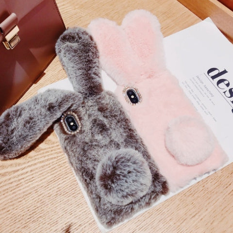 Image of Hairy Cute Rabbit Mobile Case