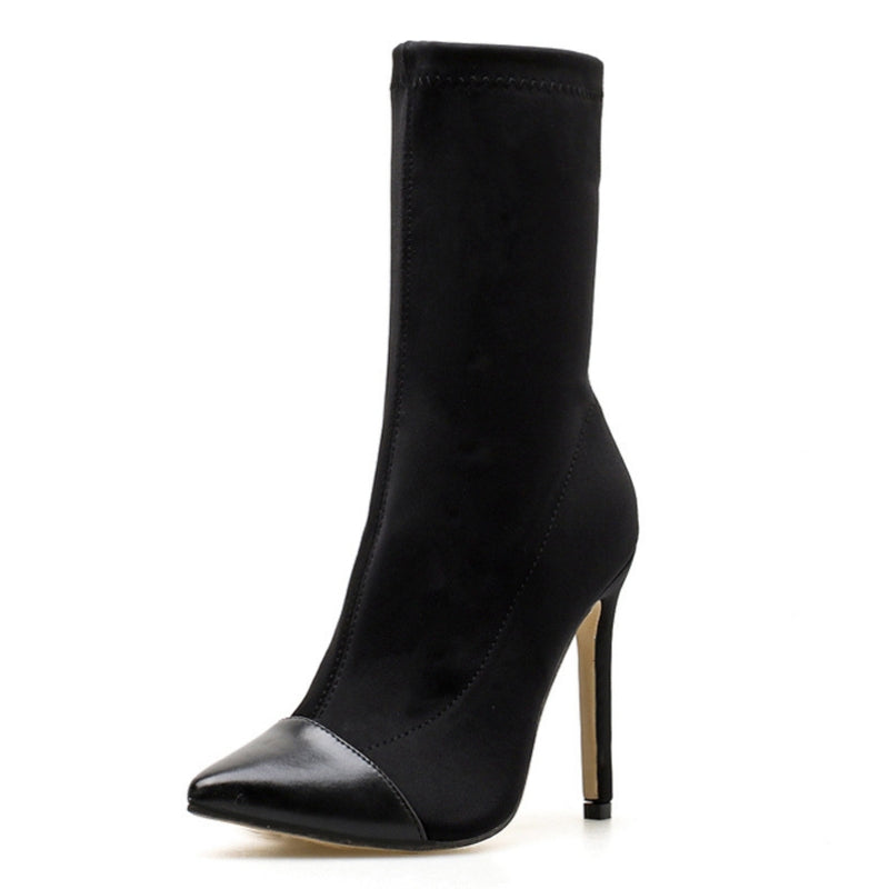 Pointed Toe Elegant High Boots