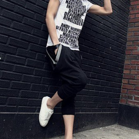 Mens Low Drop Harem Sweatpants