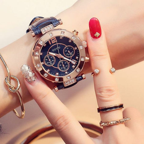 Luxurious Golden Fashion Wrist Watch
