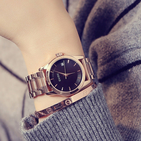 Image of Ladies Rose Gold Business Luxury Watch