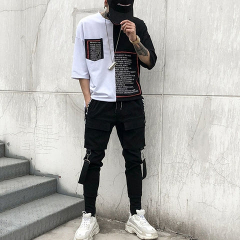 Multi Pocket Casual Patchwork Sweatpants