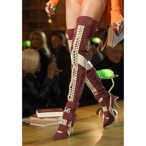 Fashion Runway Thigh High Pointed Boots