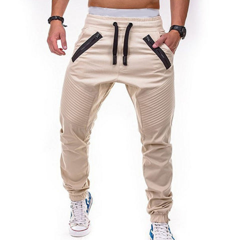 Image of Mens Zipper Pocket Pleated Sweatpants