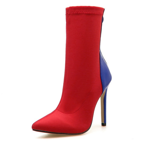 Pointed Toe Ankle High Thin Heel Boots