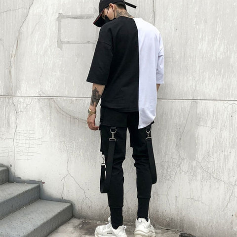 Image of Multi Pocket Casual Patchwork Sweatpants