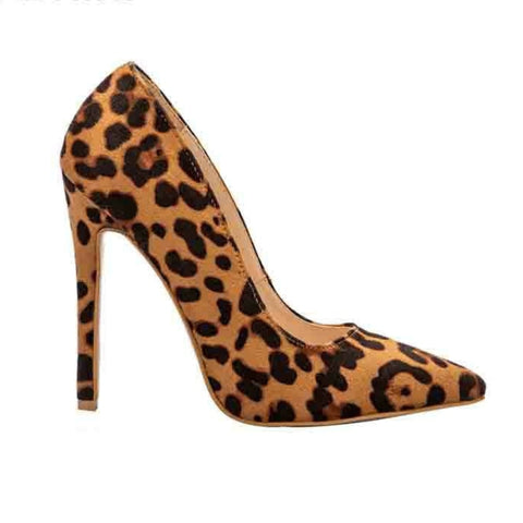 Image of Sexy Leopard Print Pointed Toe Heels