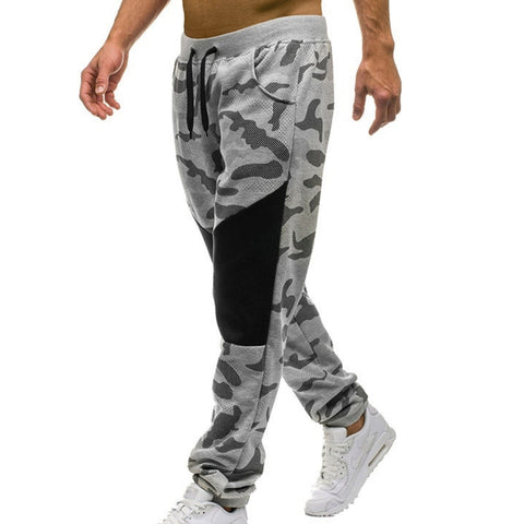 Image of Drawstring Patchwork Camo Sweatpants