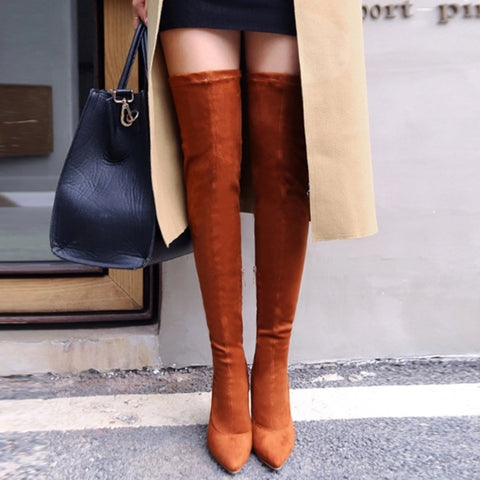 Image of Knee High Thin Heel Boots