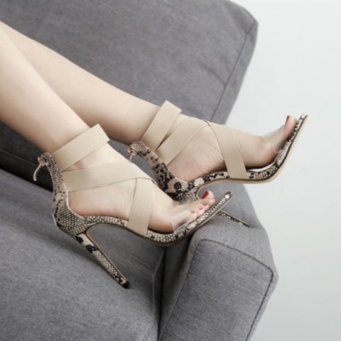 Gladiator Ankle-Wrap High Heels