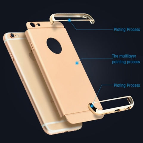 Luxury Golden Finish 3 Piece Case For iPhone