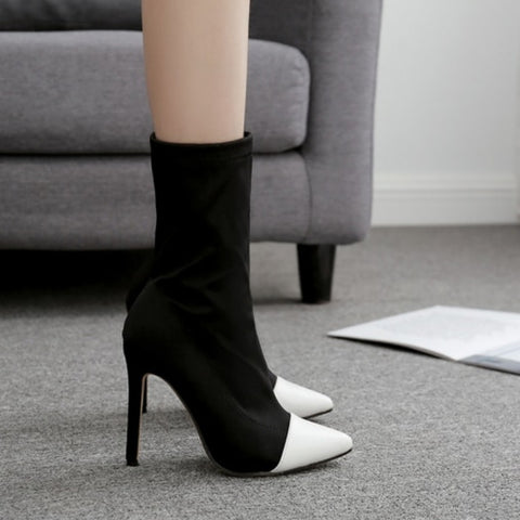 Image of Pointed Toe Elegant High Boots