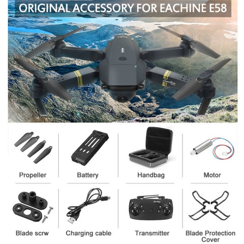 Eachine E58 WIFI FPV  Foldable Drone With Wide Angle HD Camera