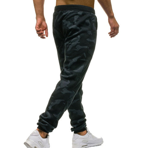 Drawstring Patchwork Camo Sweatpants
