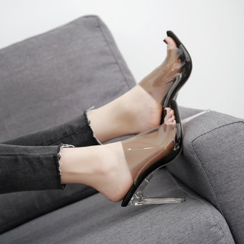 Image of Sexy Open Toe Jelly Crystal Heels
