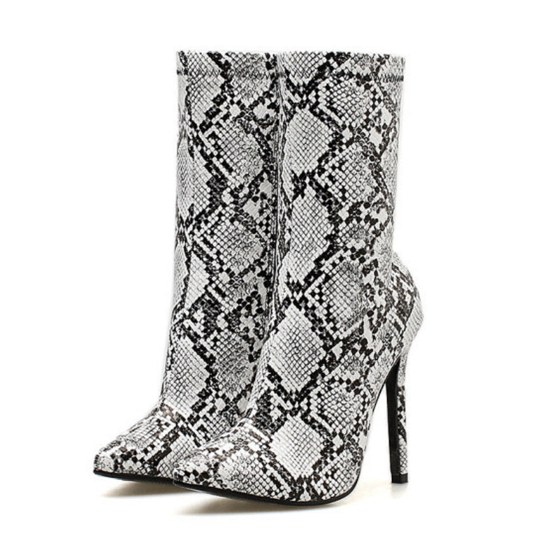 d1719c5e01f5 Snow White Snake Print Ankle Boots – Midnight Global