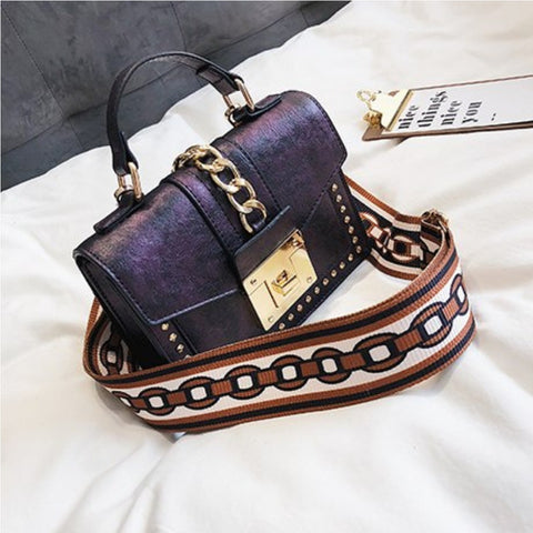Luxury Vintage Rivet Shoulder Clutch Bag