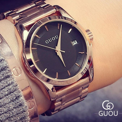 Ladies Rose Gold Business Luxury Watch