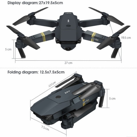 Image of Eachine E58 WIFI FPV  Foldable Drone With Wide Angle HD Camera