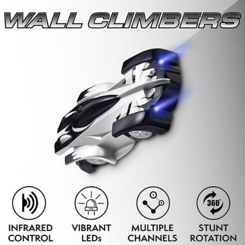 Remote Control Wall Climbing RC Car with LED Lights
