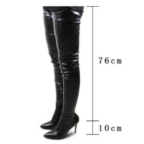 Seductive Over Knee High Strap Boots