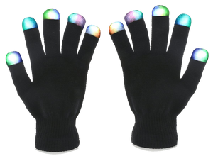 7-Mode Flashing LED Gloves
