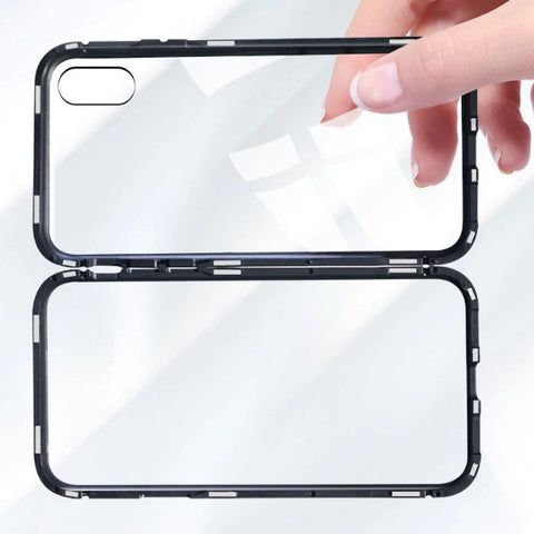 Clear Tempered Glass Magnet Adsorption Case