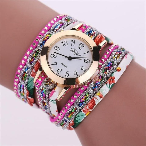 Image of New Multi Layer Leather Bracelet Quartz Watch